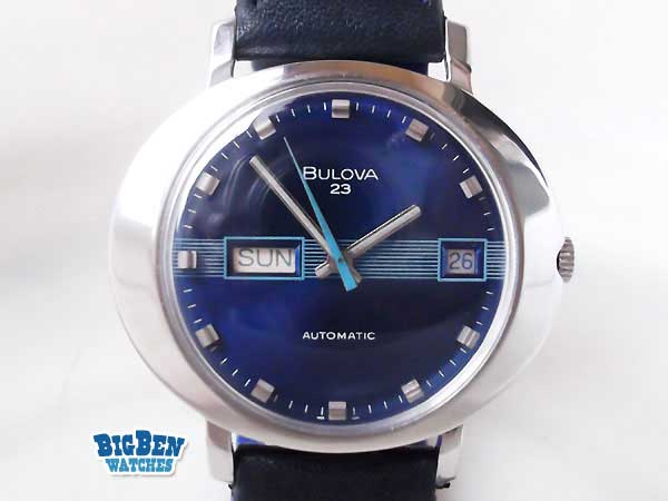 bulova 23 classic automatic day-date watch