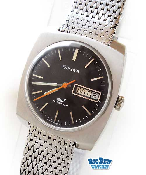 bulova classic automatic day-date watch