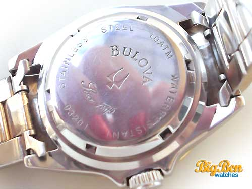 bulova professional diver 100 meters automatic date watch