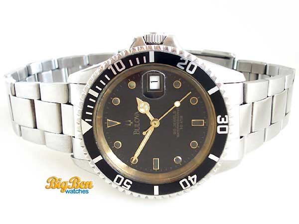 bulova diver 10 atm automatic date watch
