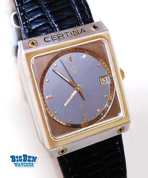 certina ds quartz date watch