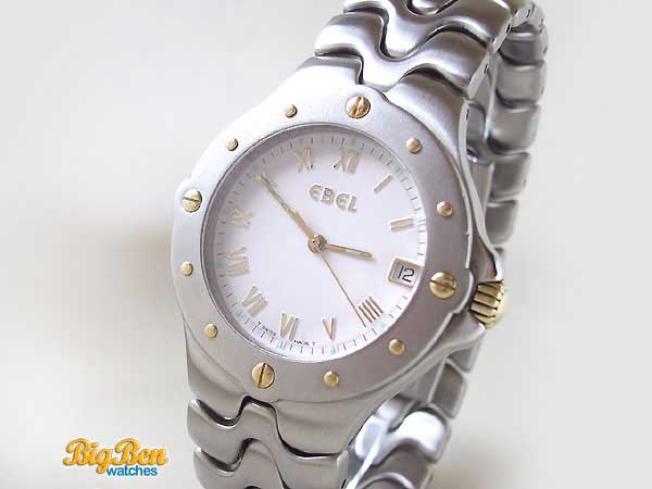 ebel sportwave quartz date watch