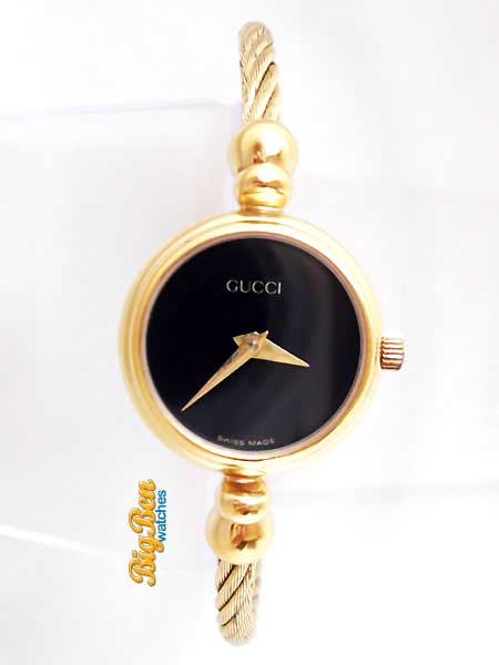 gucci 2700L quartz cable bangle watch