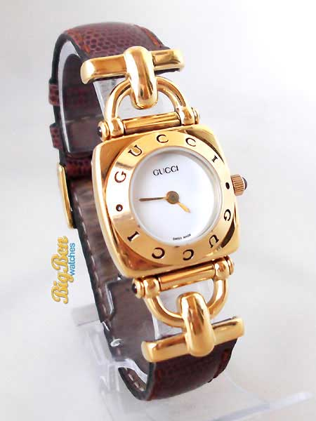 gucci 6300L horsebit quartz watch