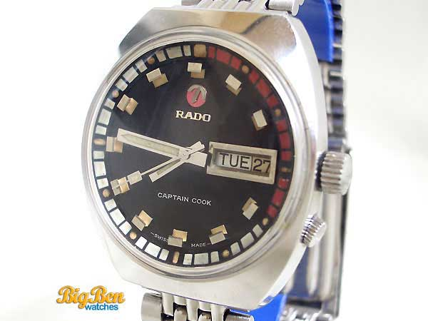 rado captain cook explorer automatic day-date watch