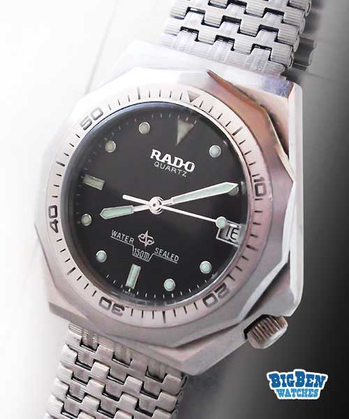 rado sports diver 150m quartz date watch