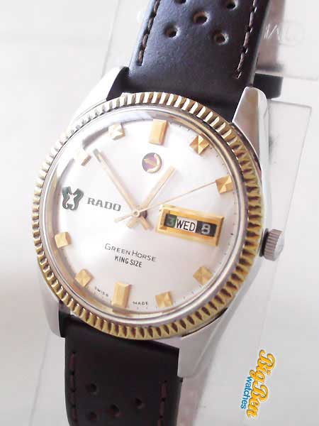 rado green horse king size daymaster automatic day-date watch
