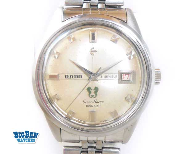 rado green horse king size manual-wind date watch