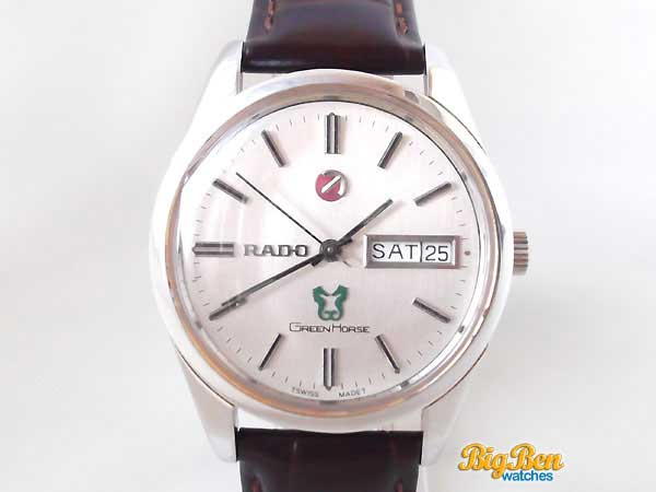 rado green horse automatic day-date watch