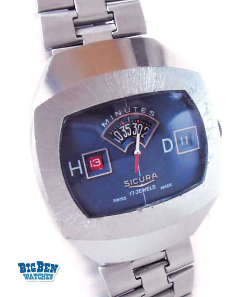 sicura jump hour direct read automatic date watch