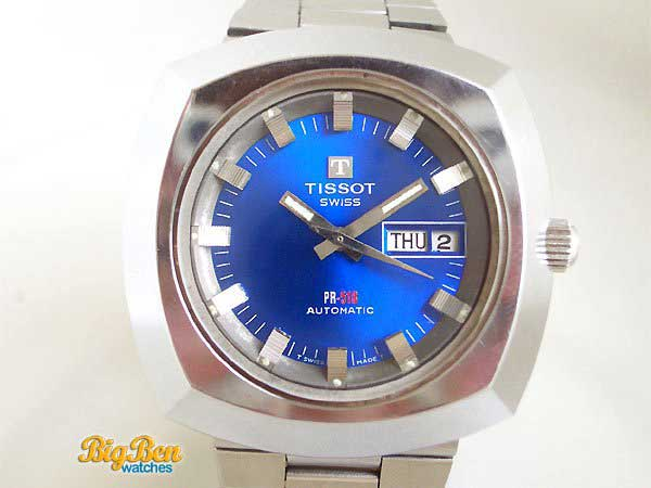 tissot pr518 automatic day-date watch