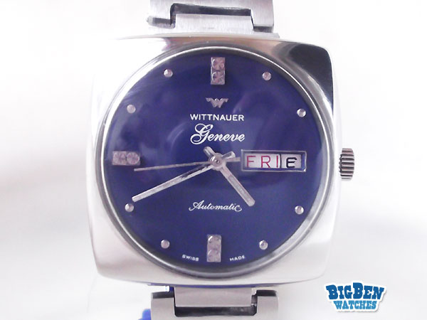 wittnauer geneve automatic day-date watch