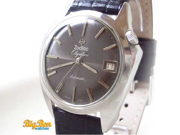 zodiac olympos automatic date watch