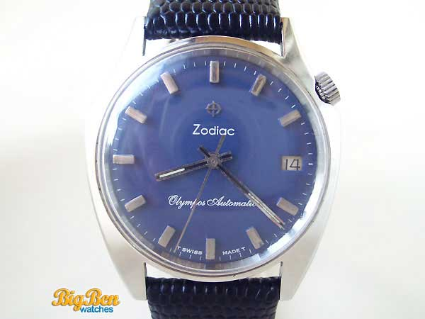 zodiac olympos floating hand automatic watch