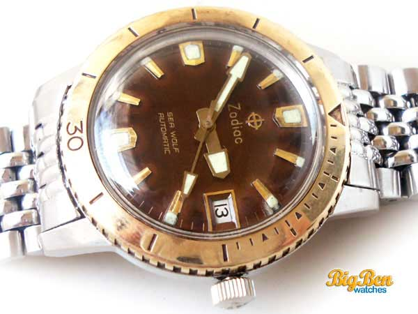 zodiac sea wolf datographic automatic watch