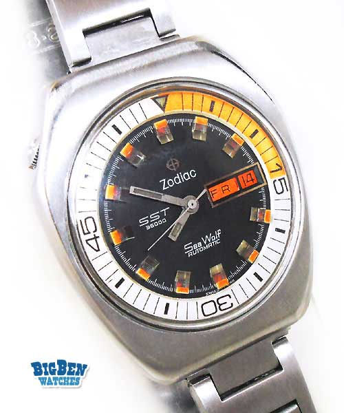 zodiac sea wolf sst 36000 automatic day-date watch