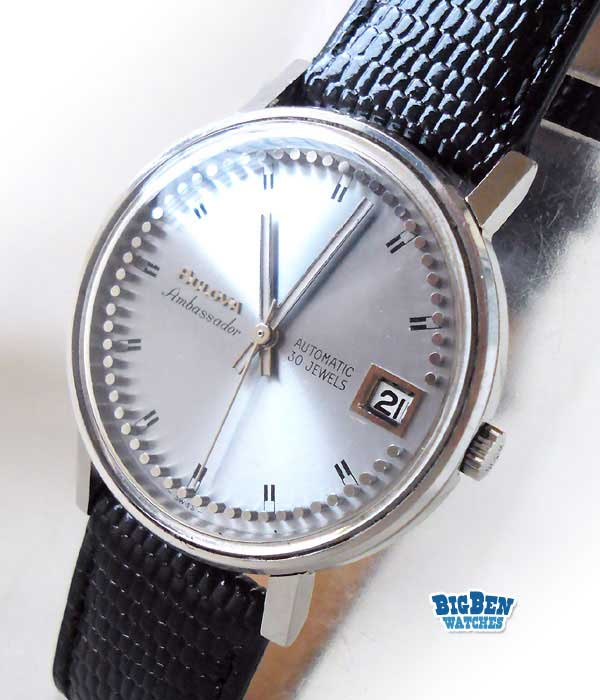 bulova ambassador automatic date watch