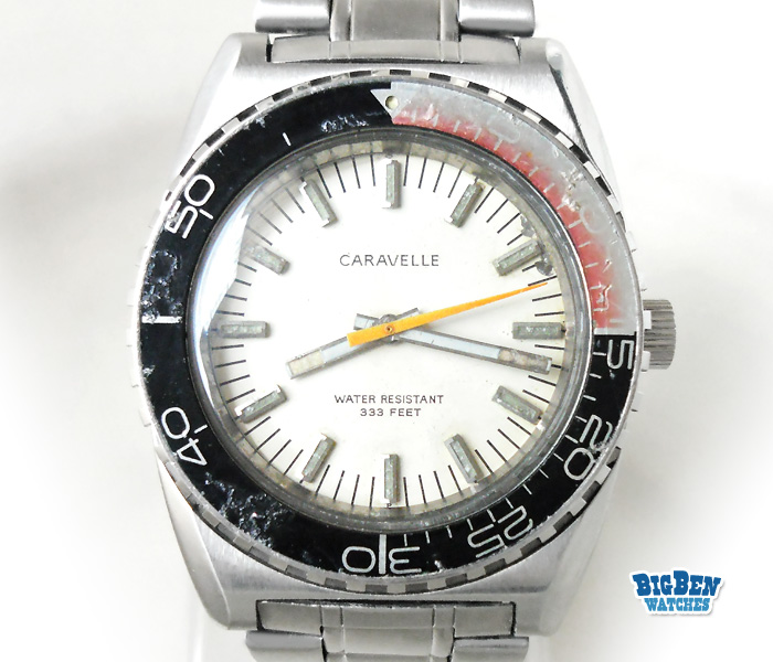 caravelle 333 feet vintage diver watch