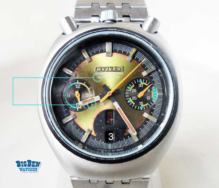 citizen chronograph challenge timer bullhead 8110 automatic day-date watch