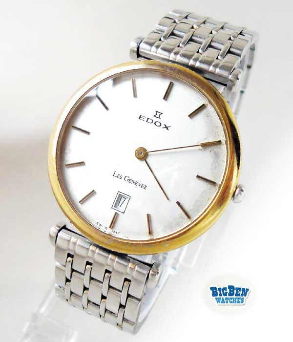 edox les genevez quartz dress watch