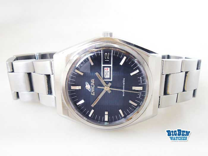 enicar classic automatic day-date watch