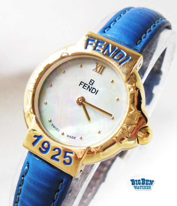 fendi 430l mother of pearl quartz watch