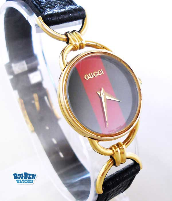 gucci 6000l classic leather watch