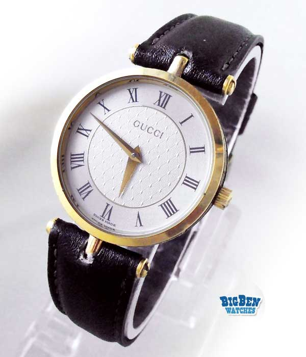 gucci stack roman numeral dial quartz watch