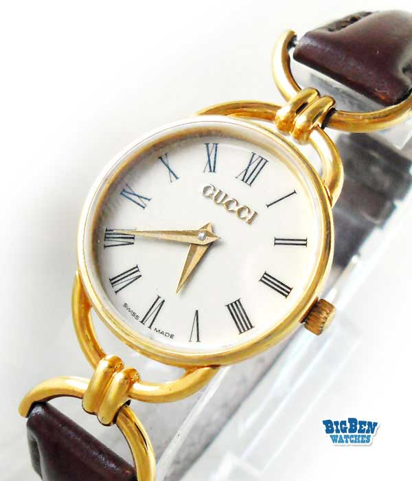 vintage gucci 6000L classic leather quartz jewelry watch