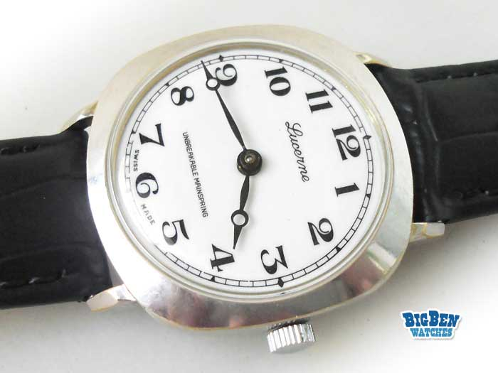 lucerne railroad classic arabic numeral hours manual-wind watch
