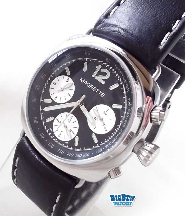 magrette marcus chronograph split seconds manual-wind watch