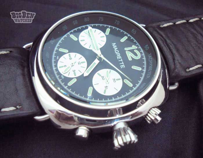 magrette marcus chronograph hand-winding mechanical watch