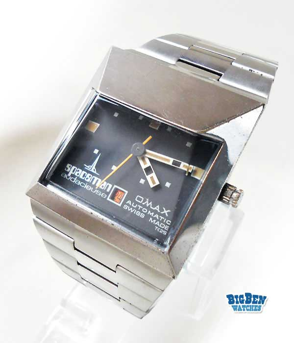 omax spaceman audacieuse automatic date watch