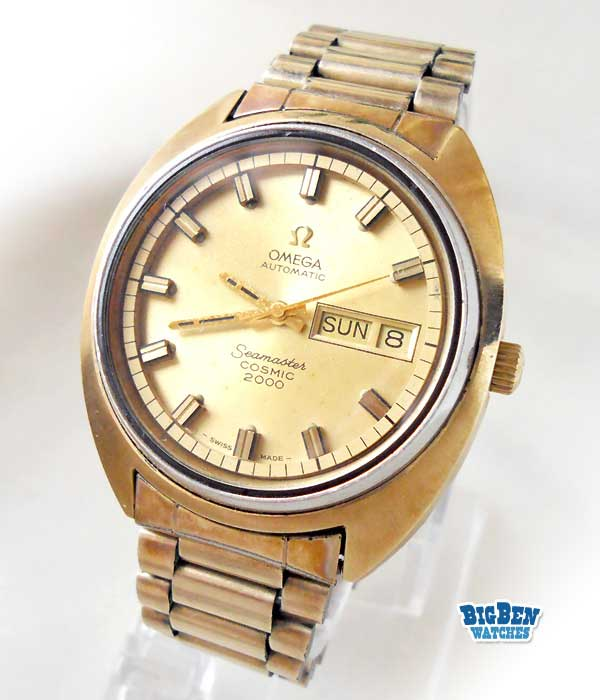 omega seamaster cosmic 2000 automatic day-date watch