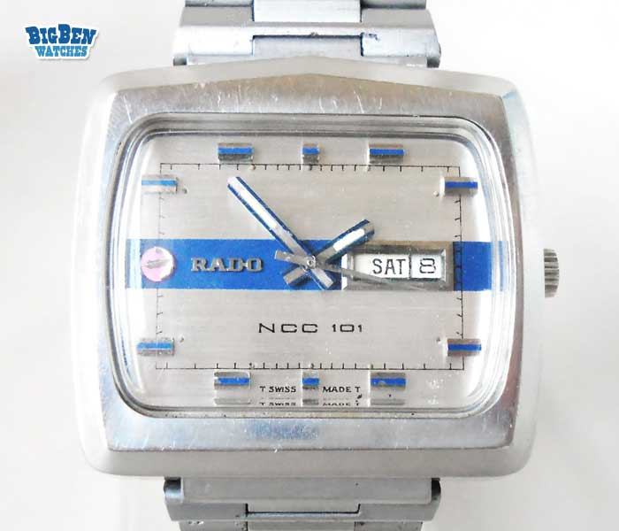 rado ncc 101 automatic day-date watch