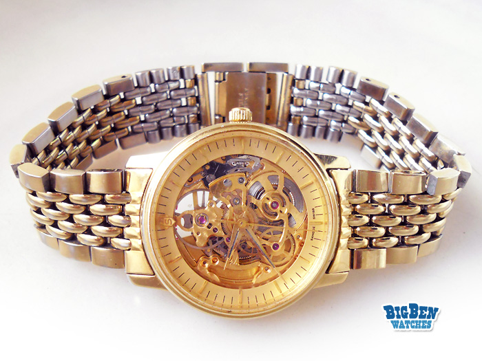 sandoz skeleton 8012 automatic watch