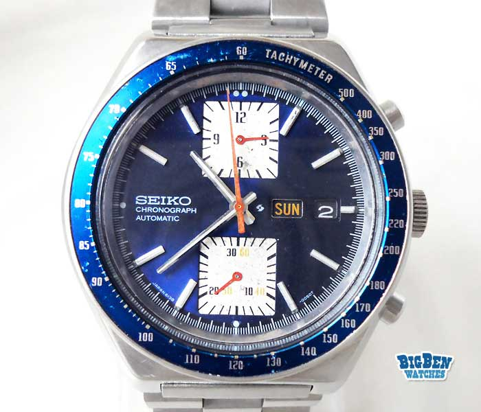 seiko chronograph kakume 6138-0030 automatic day-date watch