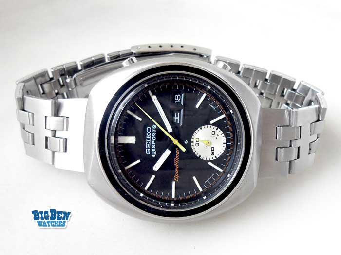 seiko chronograph speed timer 6138-8020 automatic day-date watch