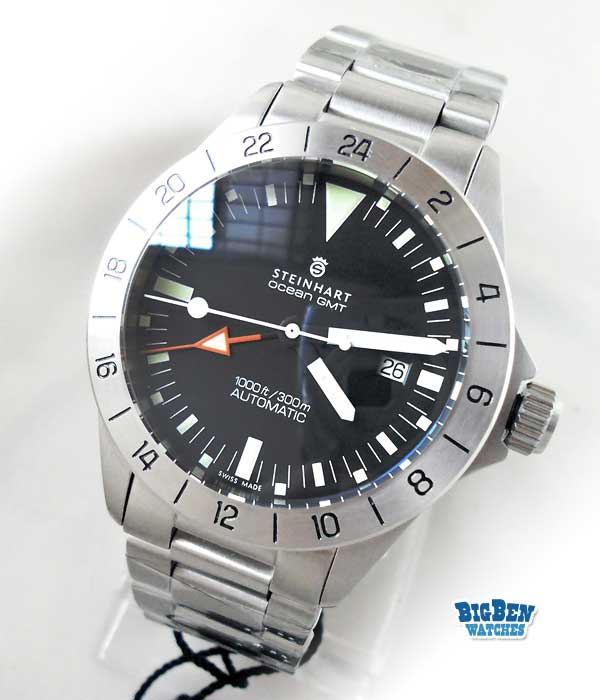 steinhart ocean gmt 1000 ft / 300m automatic watch