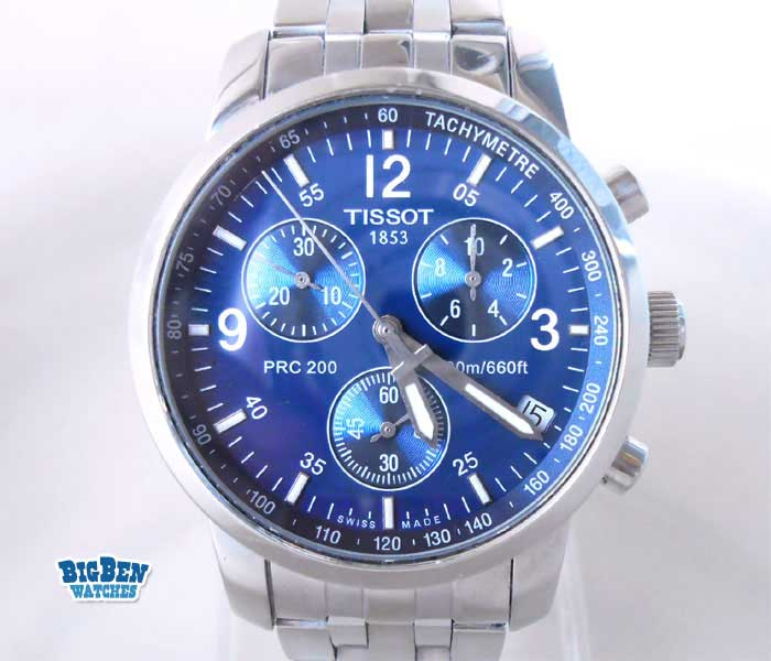 tissot prc 200 chronograph 200m / 660ft ddiver quartz date watch