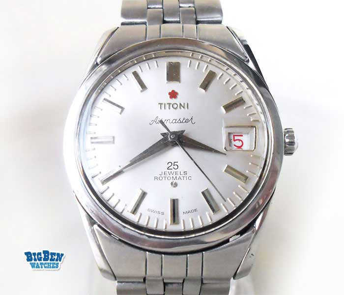 titoni airmaster rotomatic date watch