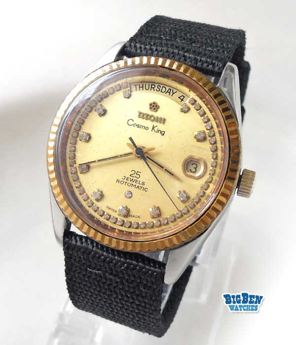 titoni cosmo  king automatic date watch