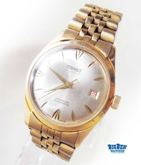 tugaris classic 25 jewels automatic date watch