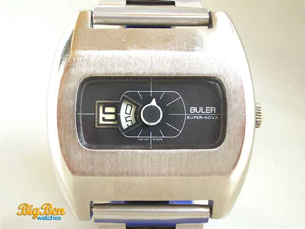 buler super-nova jump-hour mechanical watch