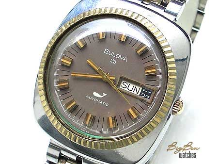 bulova classic 23 automatic day-date watch