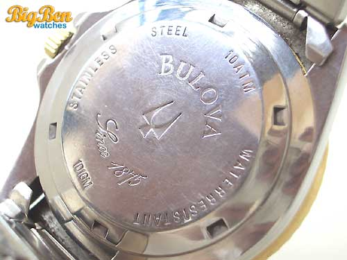bulova diver 10atm automatic date watch