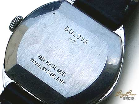 bulova longchamp manual-wind leather watch