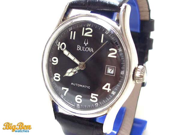 bulova military automatic date watch
