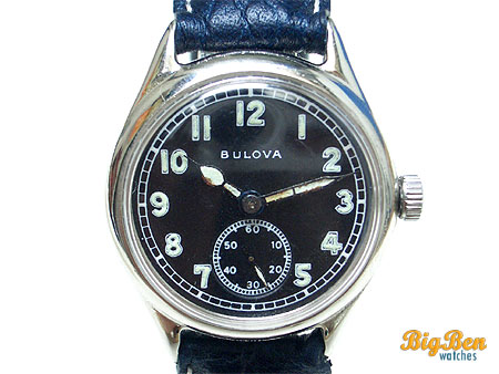 bulova world war II sub-second military watch