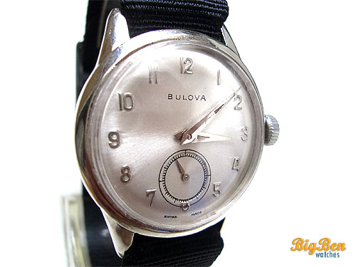 original bulova sub-second us zone manual-wind watch
